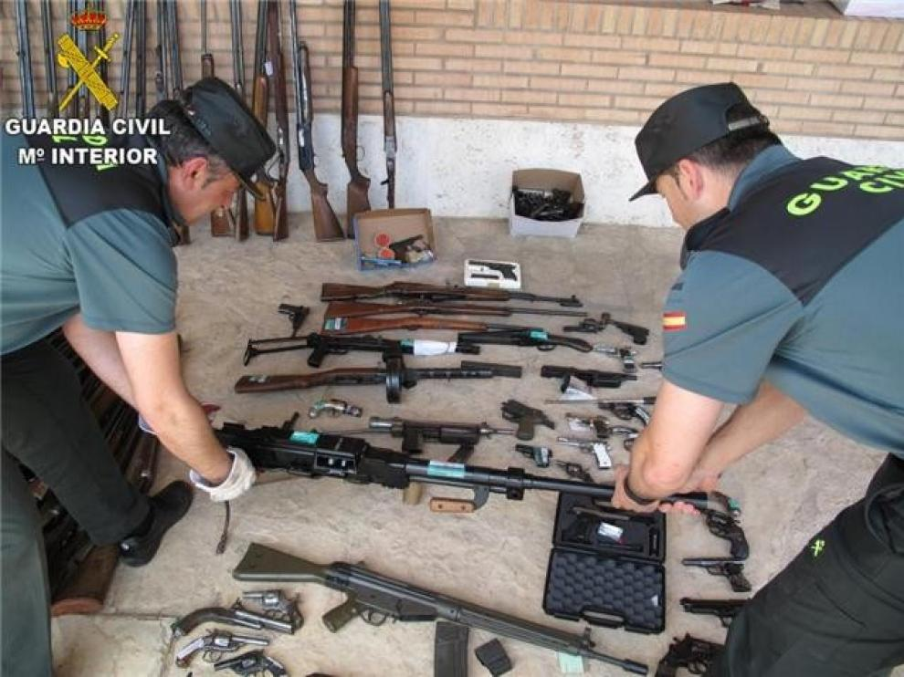 La Guardia Civil destruyó en Huesca más de 700 armas durante 2019
