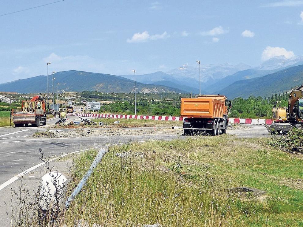 Avanzan a buen ritmo las obras de la autovía en Sabiñánigo