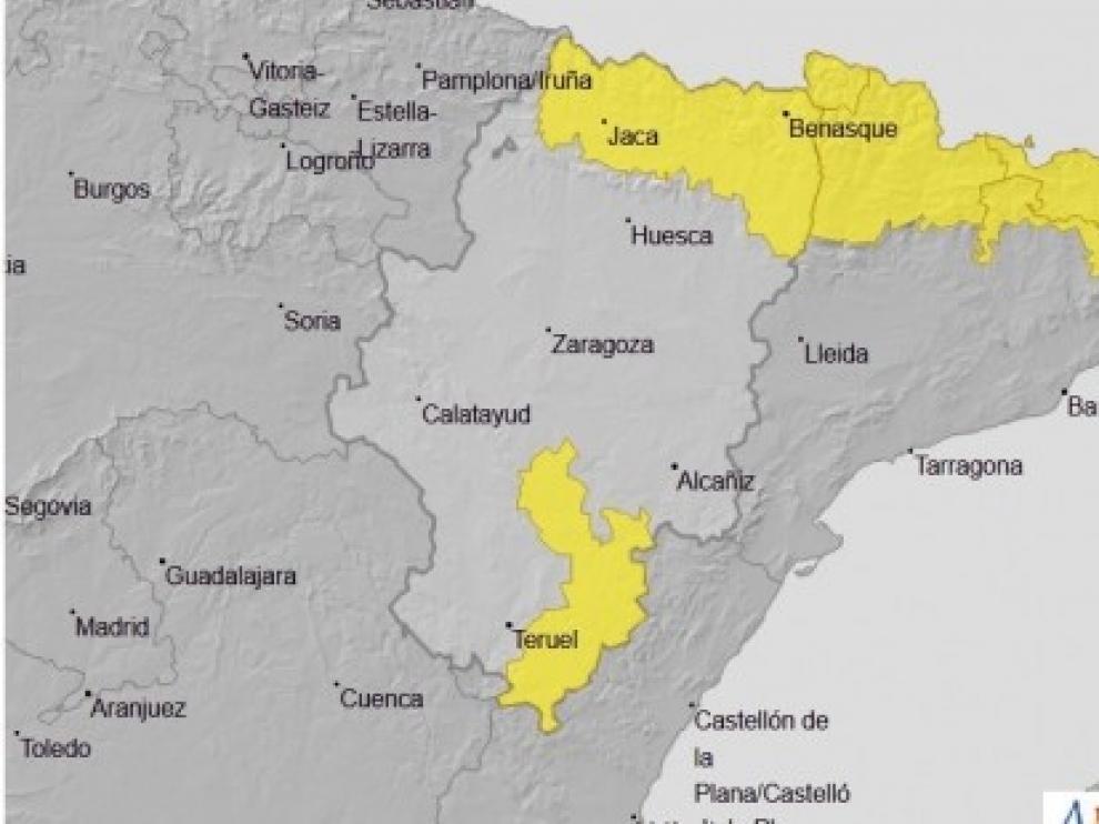 La Aemet activa la alerta por tormentas en el Pirineo oscense
