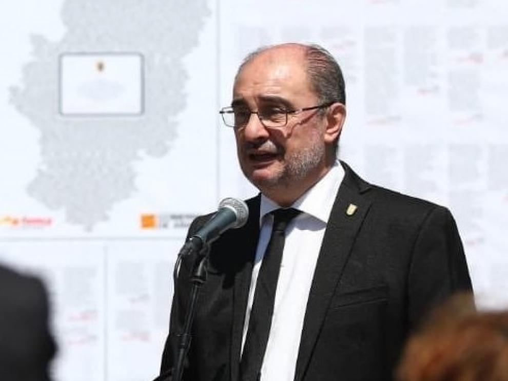 Lambán pide responsabilidad a los aragoneses y no relajarse frente al coronavirus