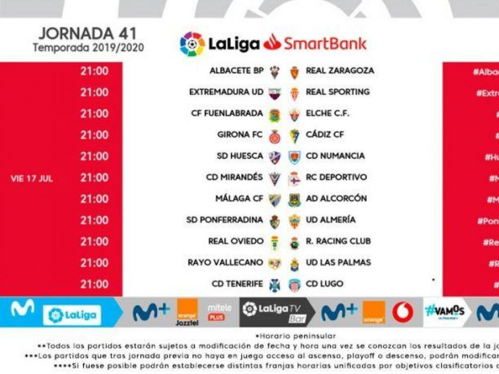 El Huesca ya conoce fechas y horarios de las dos últimas jornadas de LaLiga