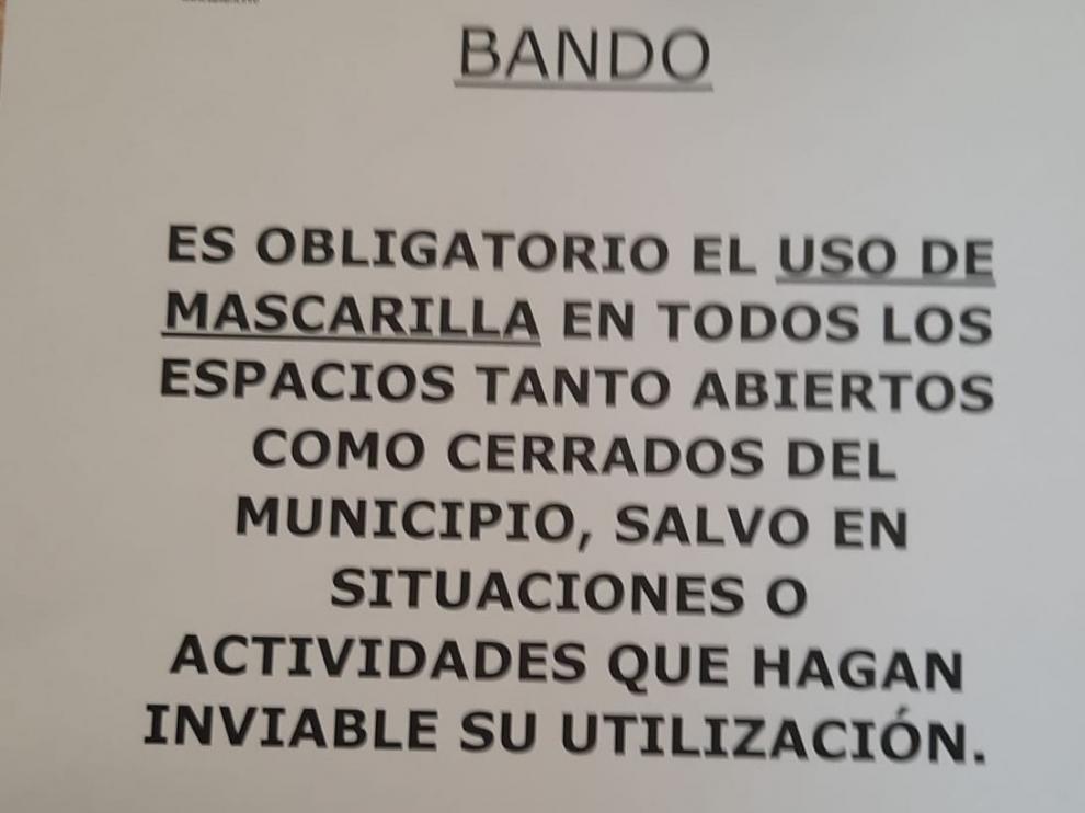 Obligatorio el uso de mascarilla en Sallent de Gállego tanto en espacios abiertos como cerrados
