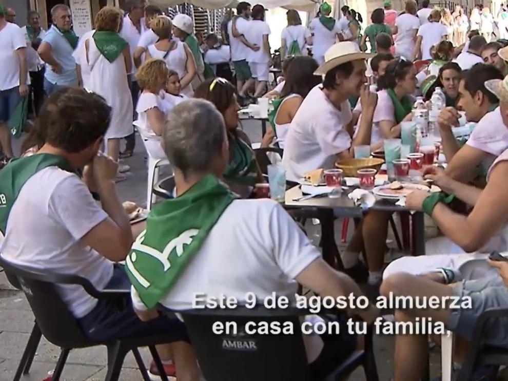 Las instituciones llaman en un vídeo a vivir de forma responsable en Huesca las fechas de San Lorenzo