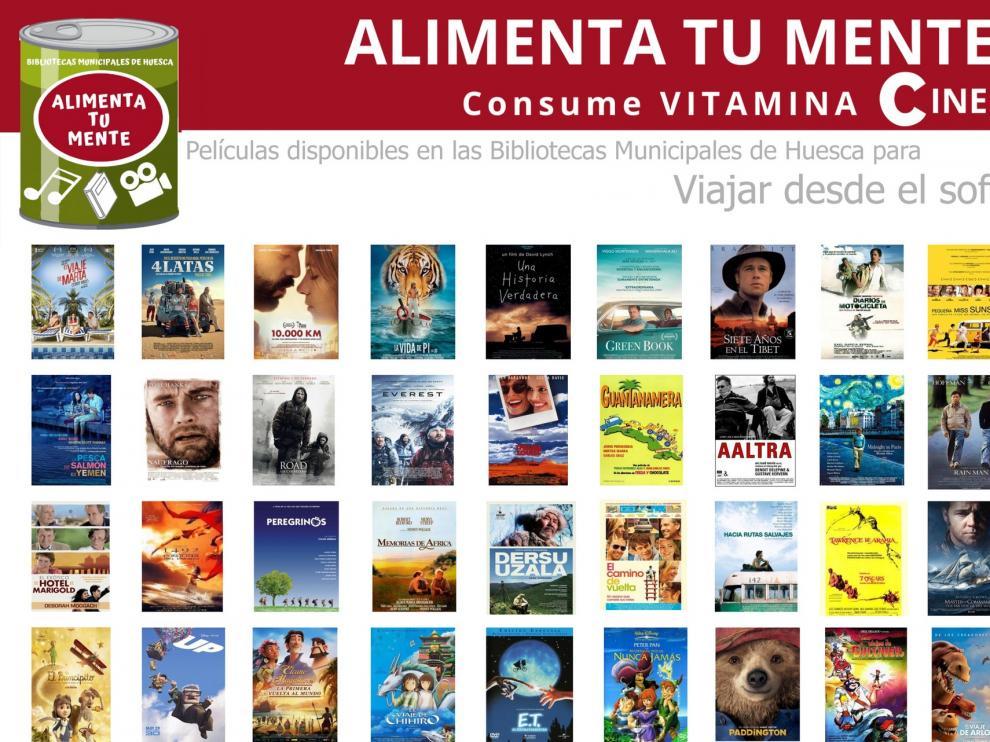 Las bibliotecas municipales de Huesca nos invitan a 'Viajar desde el sofá'