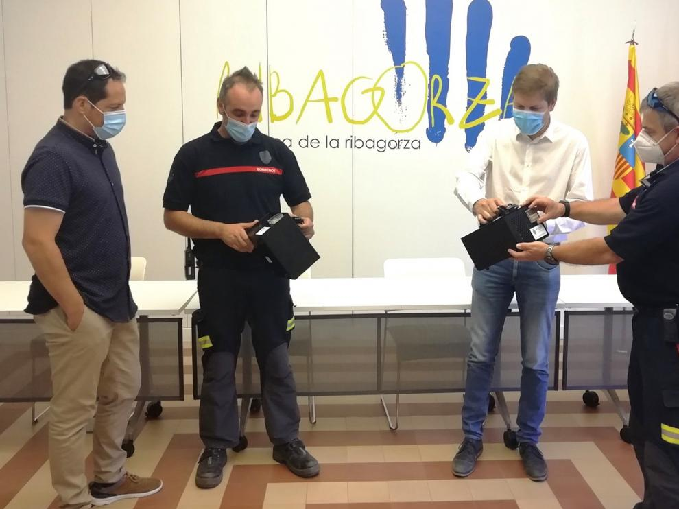 Ribagorza recibe de la Diputación dos generadores de ozono