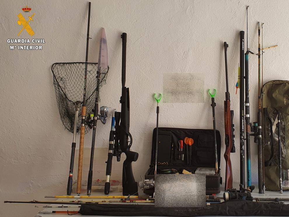 La Guardia Civil interpone más de 40 denuncias a la normativa de caza y pesca en las zonas Cinca Medio y Bajo