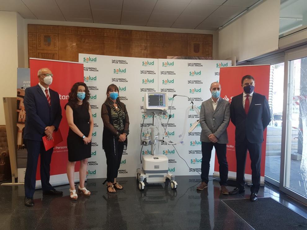 La Comunidad recibe dos nuevos respiradores donados por el Banco Santander