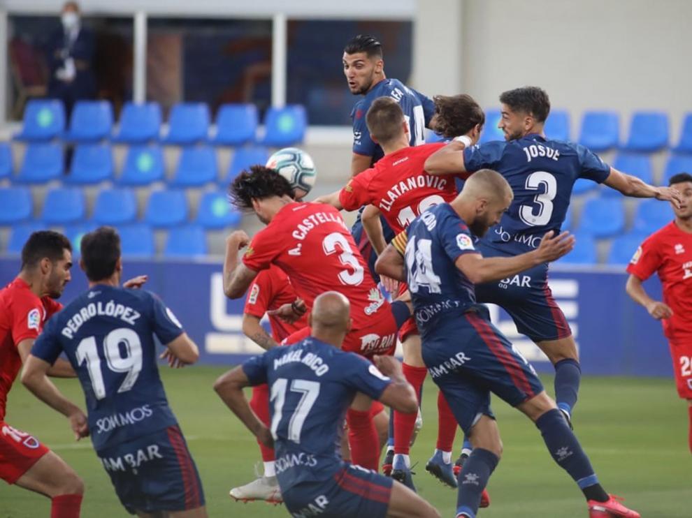 La victoria del Huesca en imágenes