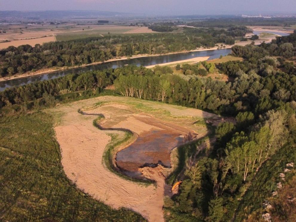 Proyecto para reducir el riesgo de avenidas en el eje del río Ebro