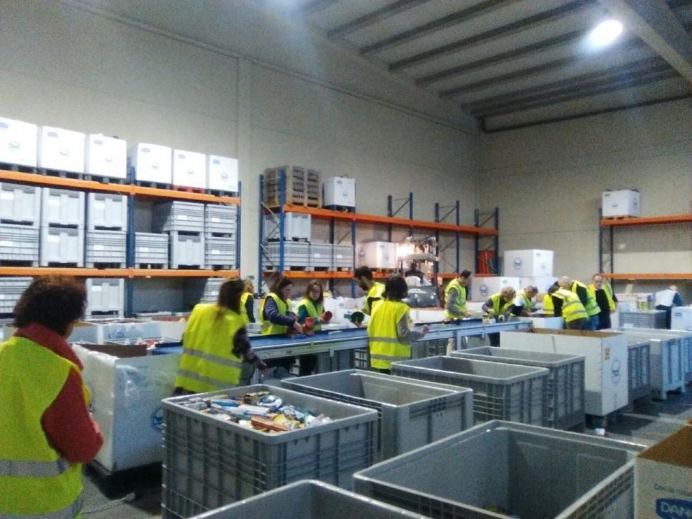 Banco de Alimentos de Huesca, la gran obra del voluntariado esencial
