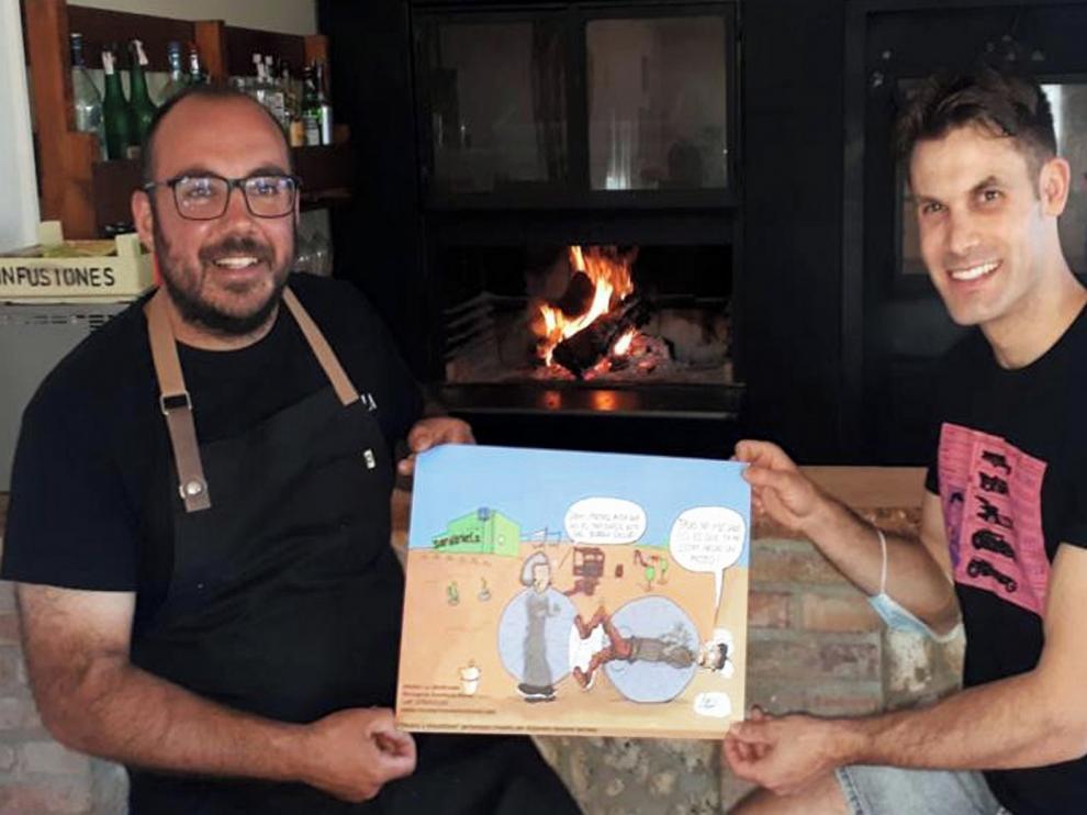 El cómic, en la gastronomía de Monegros Aventura Rural
