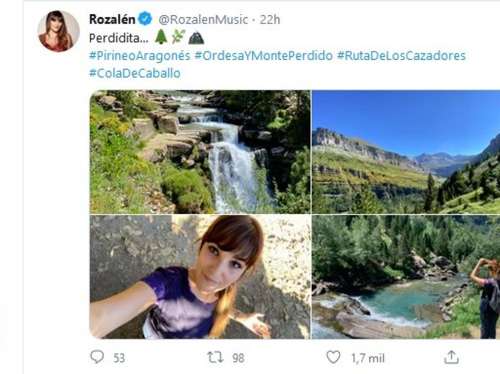 """La cantante Rozalén disfruta """"perdiéndose"""" en el Pirineo"""