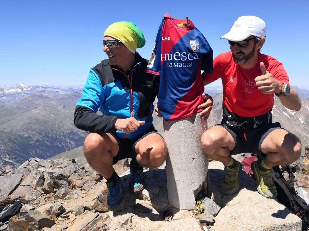 El Huesca, en lo más alto