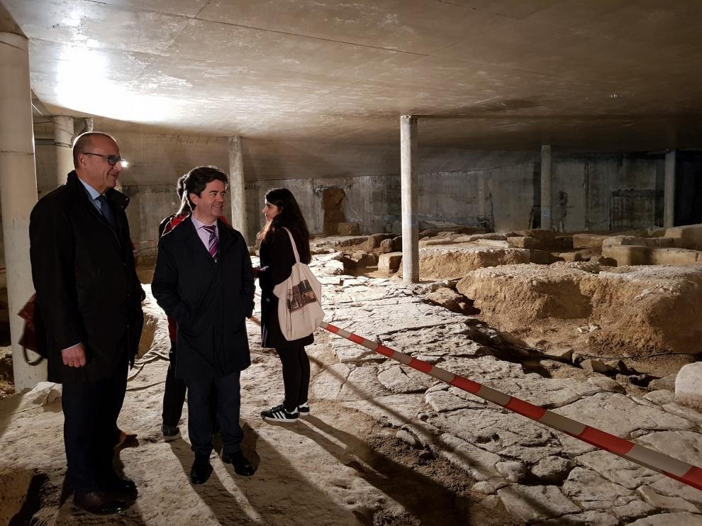 Aragón inicia los trámites para declarar BIC los restos romanos del Círculo Católico de Huesca