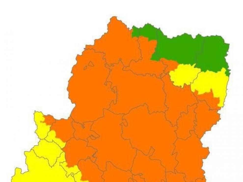 Pirineo y Somontanos, en alerta naranja de peligro de incendios forestales