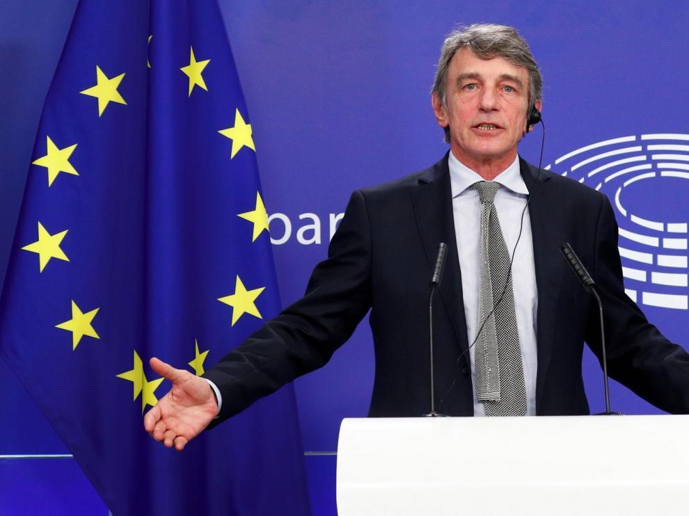 Sassoli espera mejorar el plan de la UE en el Parlamento Europeo