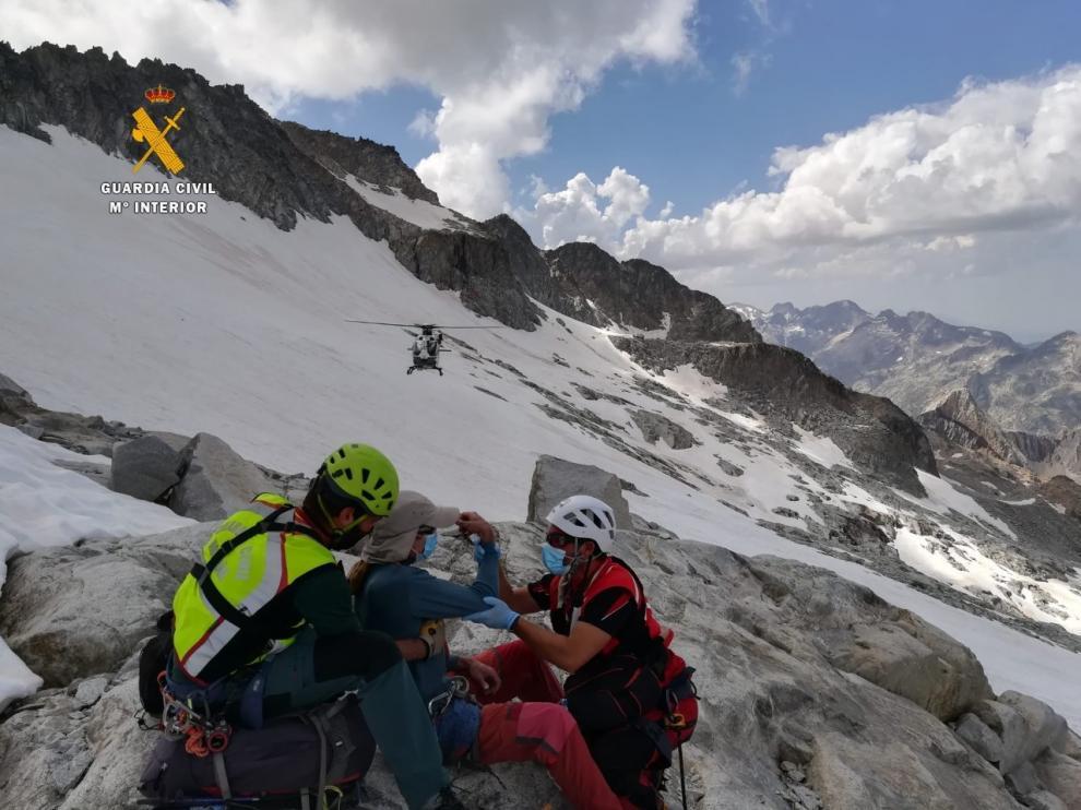 La Guardia Civil rescata en la provincia de Huesca a 25 personas en solo 4 días