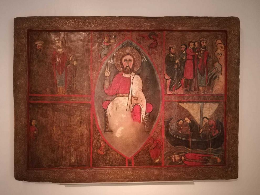 El frontal de altar de San Clemente de Estet vuelve a la Ribagorza