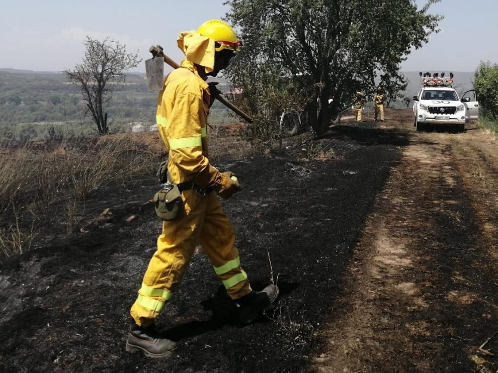 Controlado un incendio forestal en Azlor
