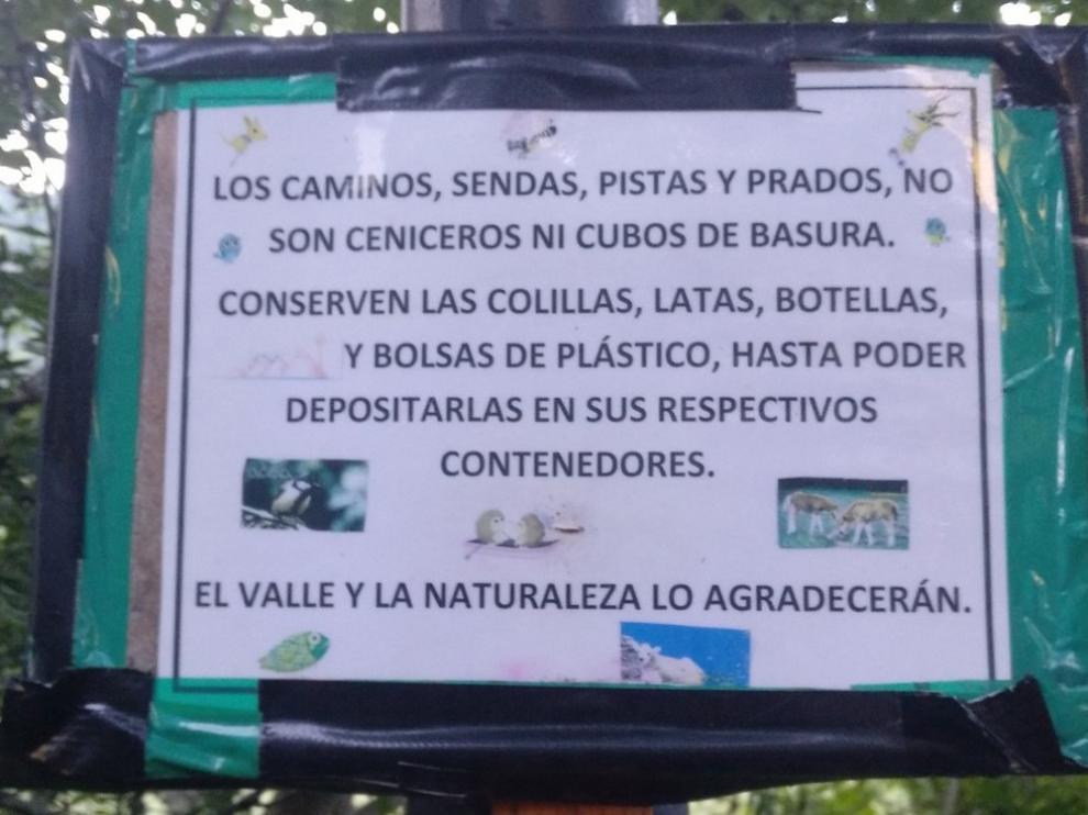 Aviso para caminantes