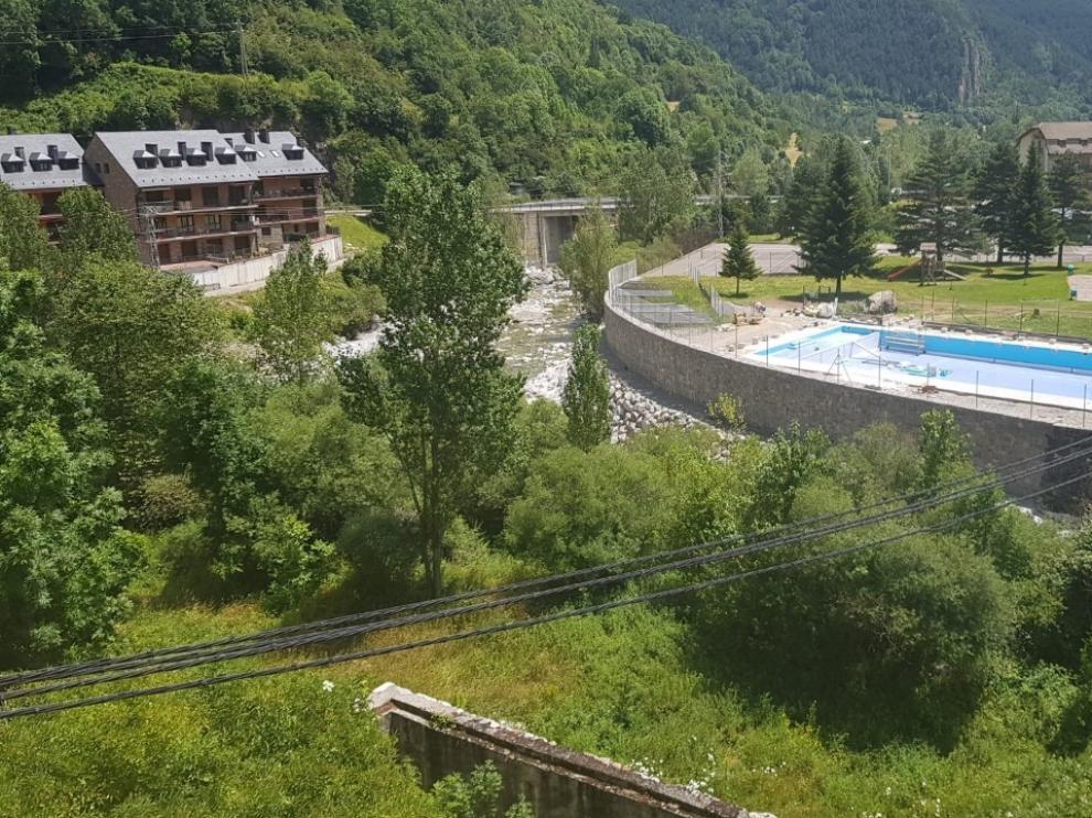 La CHE concluye el acondicionamiento del río Cinca a su paso por Bielsa