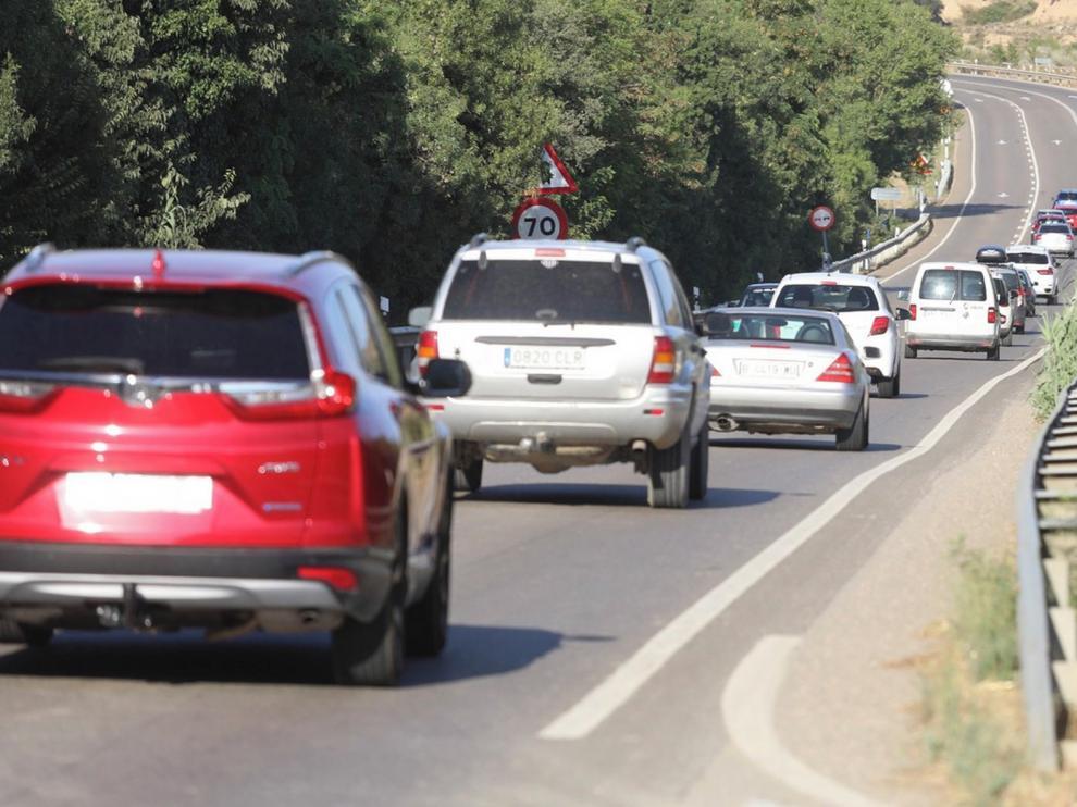 Circulación fluida en las carreteras de la provincia de Huesca