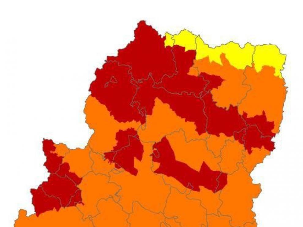 Alerta roja por peligro de incendios forestales en el Pirineo y Somontano