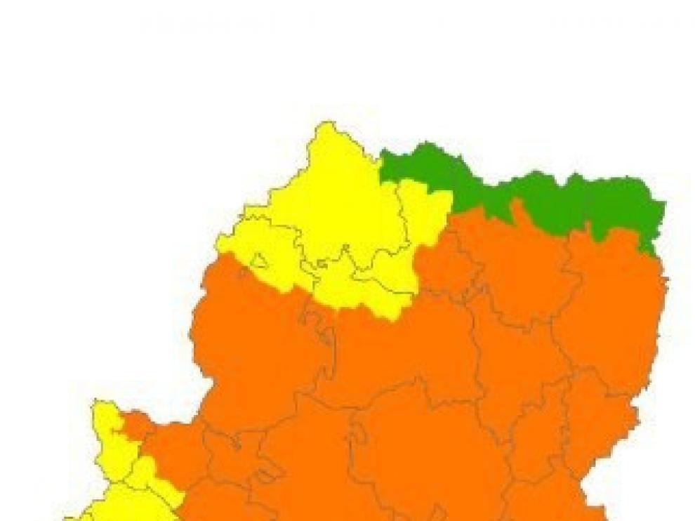 Alerta naranja por peligro de incendios forestales en el Pirineo y Somontano
