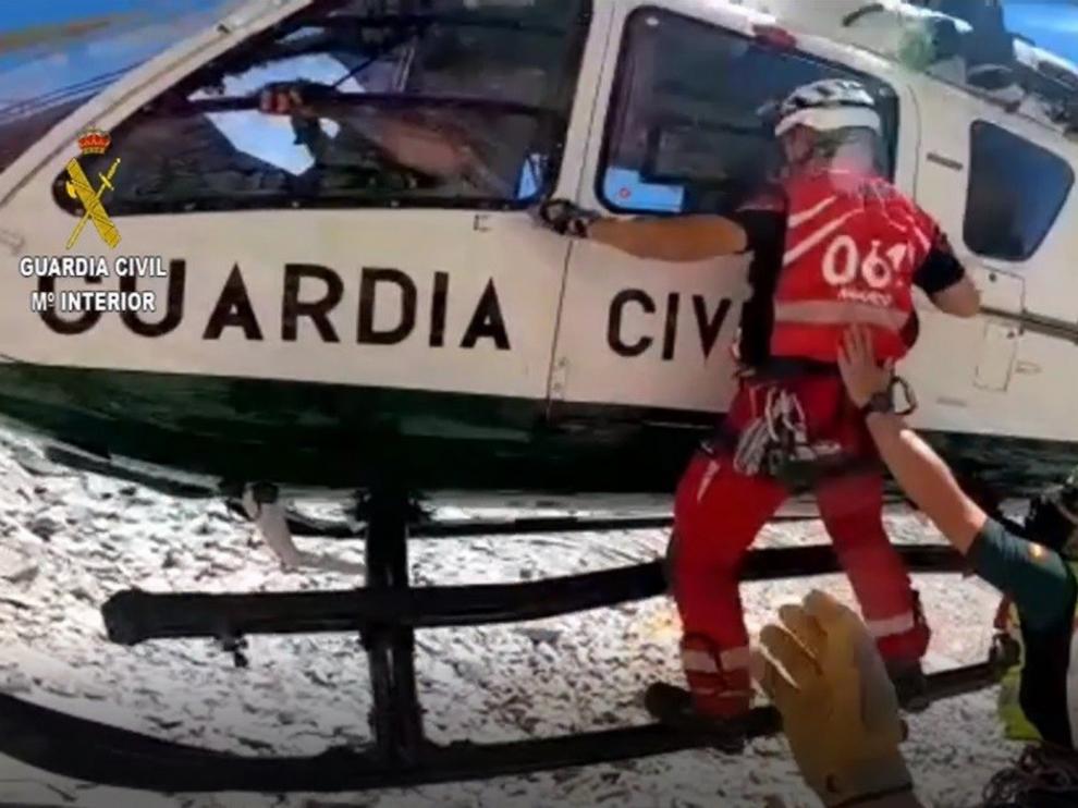 La Guardia Civil rescata a tres personas en el Pirineo este fin de semana