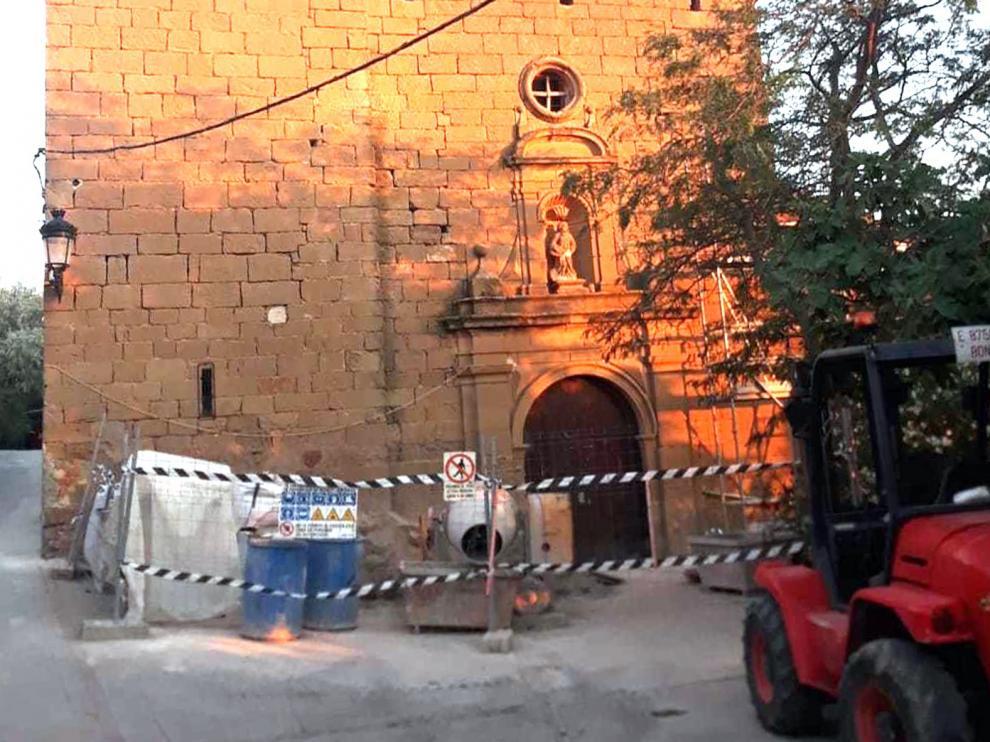 La iglesia de Castilsabás, del siglo XVIII, se salva de la ruina