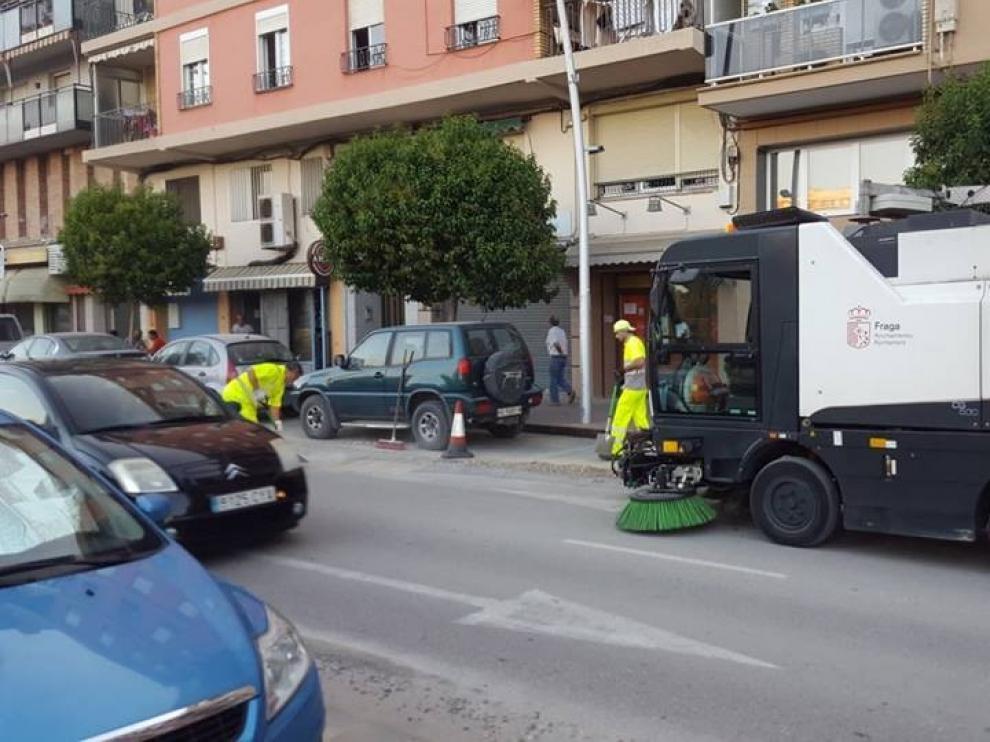 El ayuntamiento de Fraga aprueba el nuevo pliego de limpieza viaria