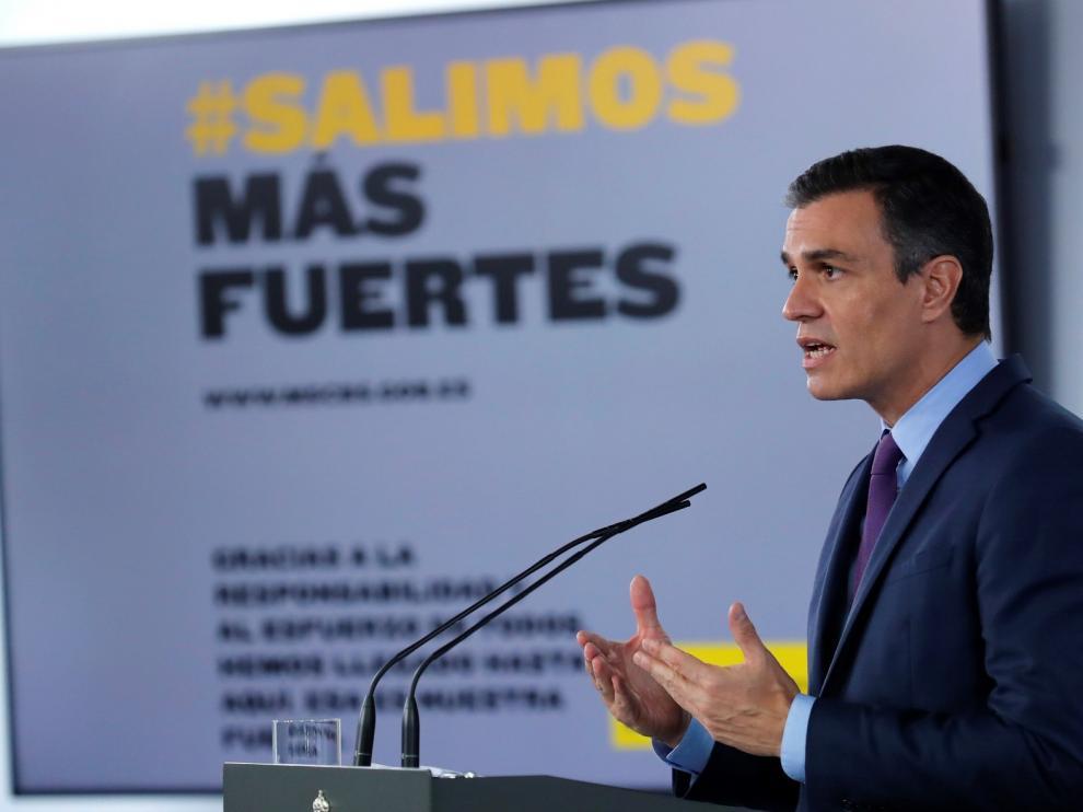 Pedro Sánchez valora que más del 55 % del acuerdo de coalición haya sido activado