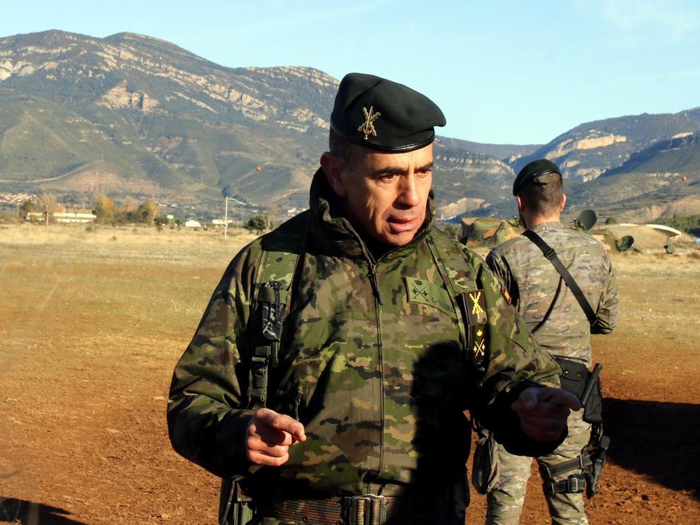 El general García González-Valerio asciende y dejará el cuartel Sancho Ramírez