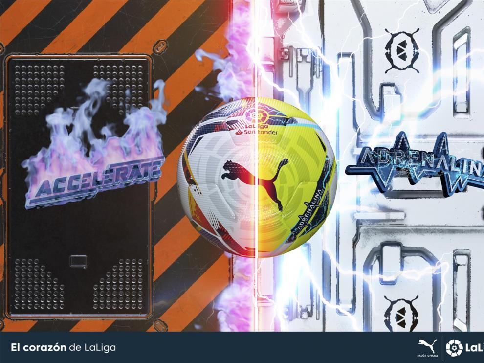 Accelerate y Adrenalina, los balones de LaLiga para la nueva temporada