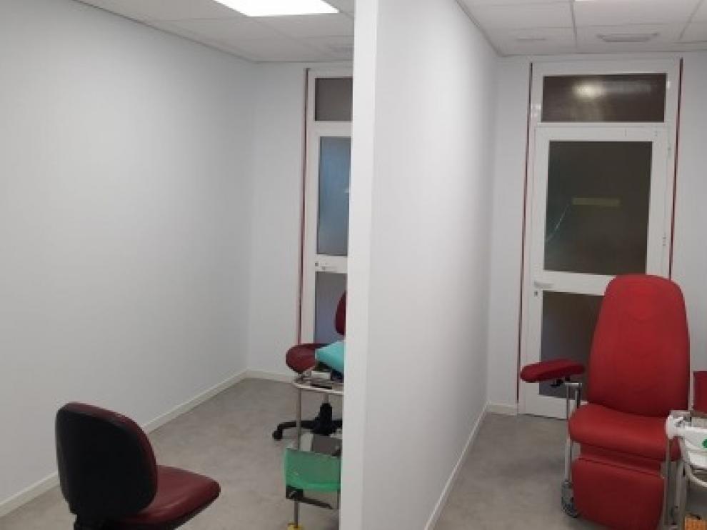 El servicio de extracciones del Hospital San Jorge de Huesca se traslada a su ubicación definitiva