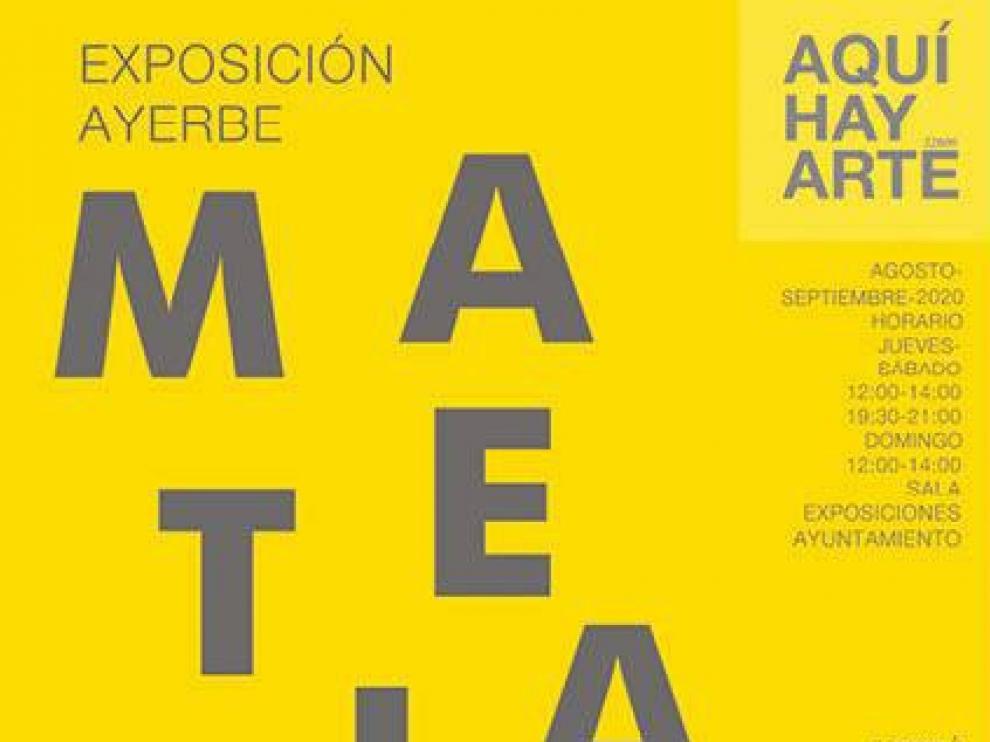 """El grupo Aquí hay arte 22800 expone en Ayerbe """"Materiales"""""""