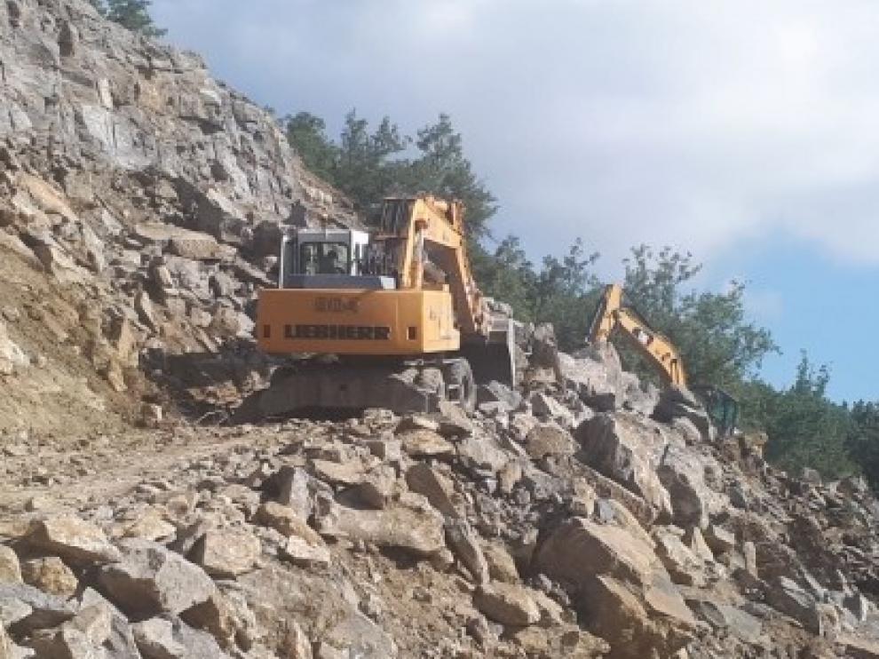 Actuación en la carretera A-2613 entre Castilgaleu y Monesma y Cajigar