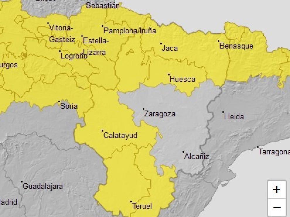 Se amplía el aviso amarillo por tormentas en el Pirineo oscense