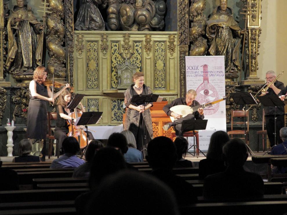 Instrumentos en escena como potente voz humana en la iglesia del Carmen de Jaca