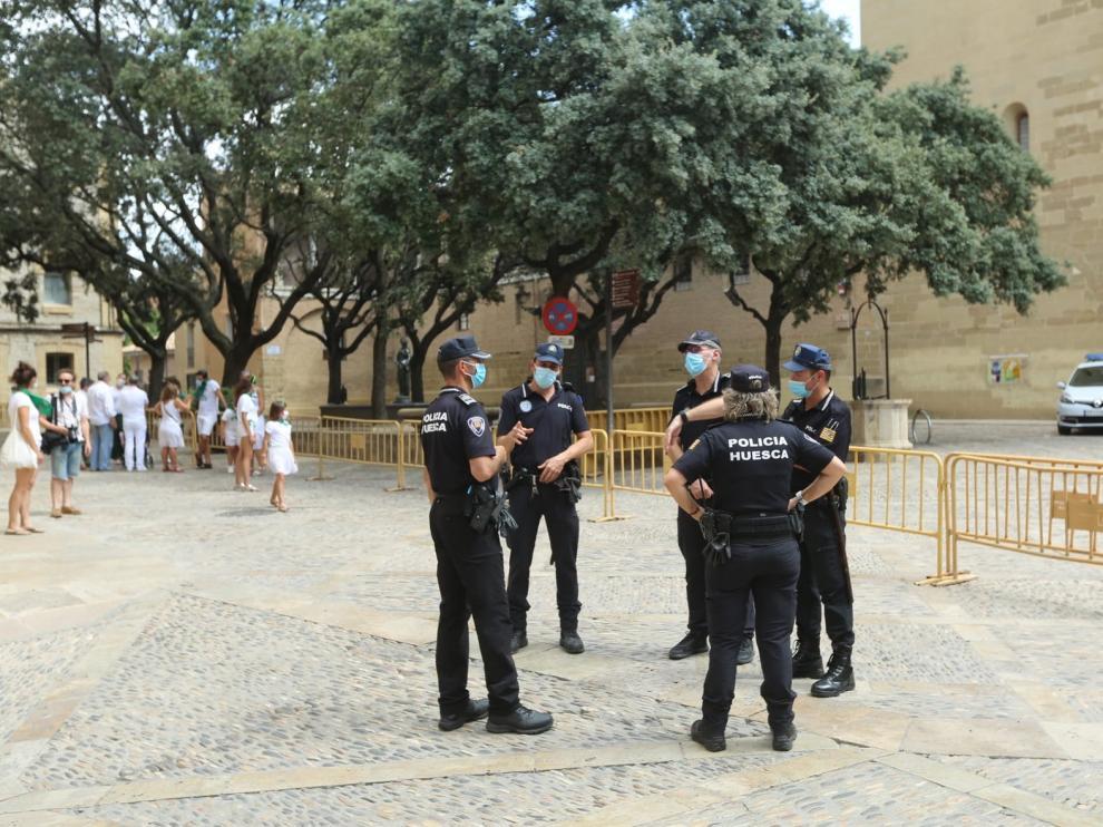 Más de 30 denuncias en Huesca por no llevar mascarilla y por agrupaciones