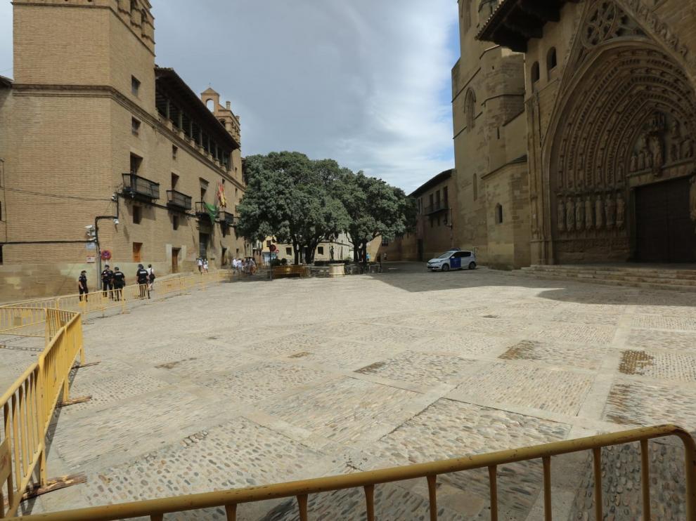 Huesca se contiene y vive sin incidentes un 9 de San Lorenzo sin celebraciones