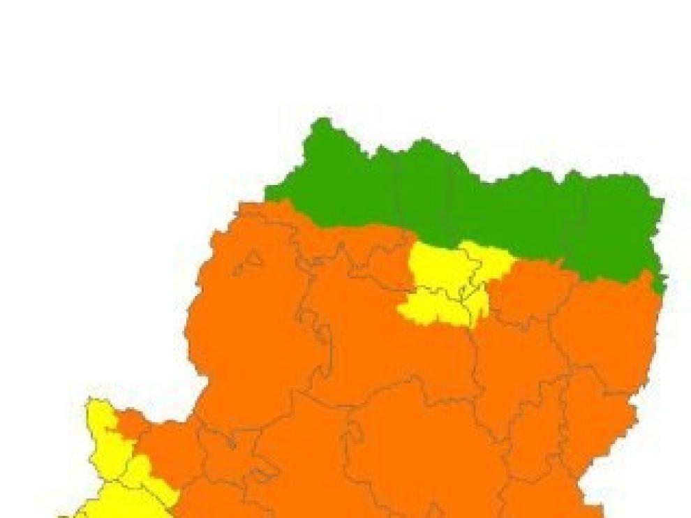 Alerta naranja por peligro de incendios forestales en el centro y sur de Huesca