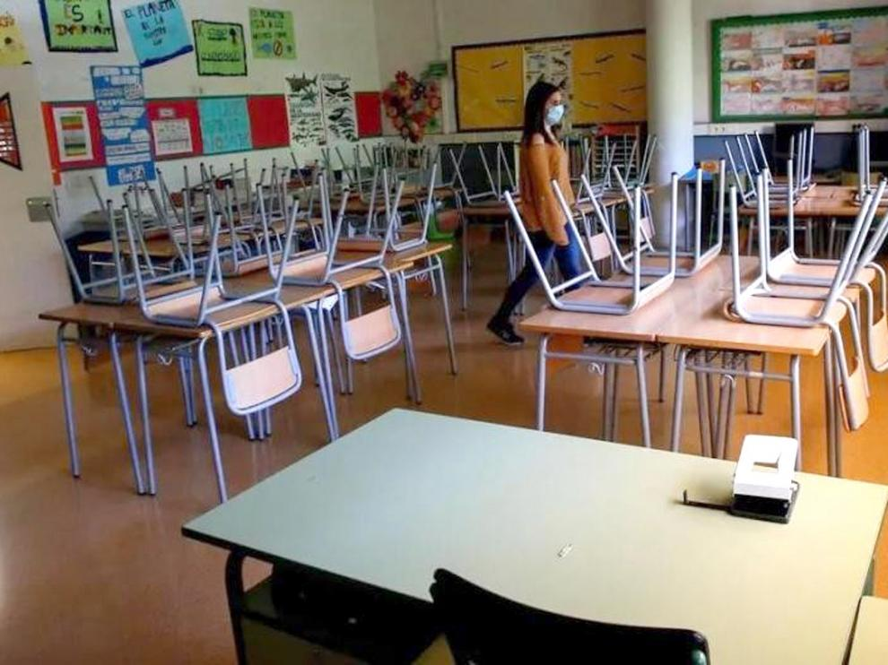 Cerradas este viernes cuatro nuevas aulas de tres centros educativos de Huesca a causa de la covid