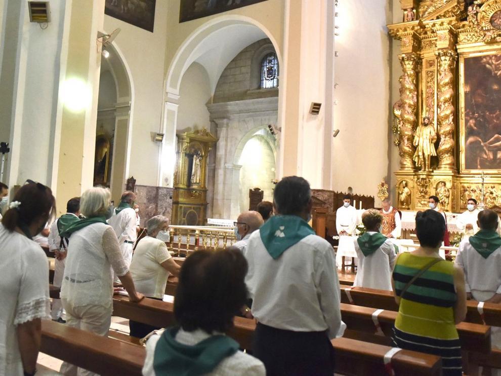 La Cofradía de San Lorenzo celebró su anual misa del 11 de agosto en Huesca