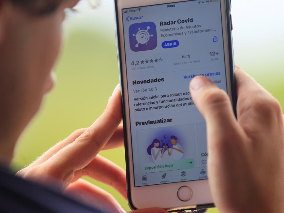 El Radar Covid supera los 4 millones de descargas, con Aragón y 12 comunidades más conectadas