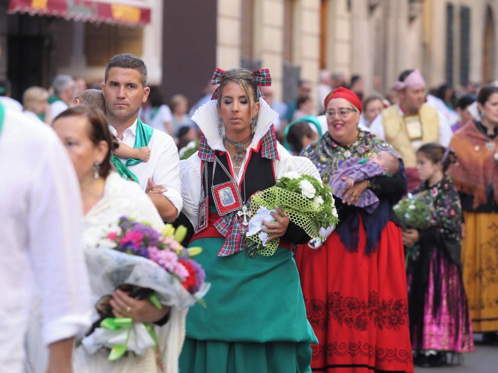 La parroquia de San Lorenzo de Huesca recoge las donaciones de la Ofrenda de Frutos