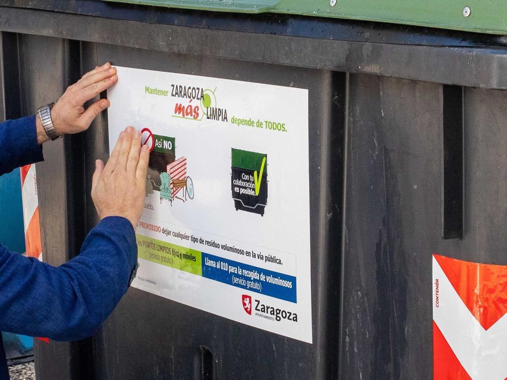 Campaña contra la acumulación de basura en Zaragoza