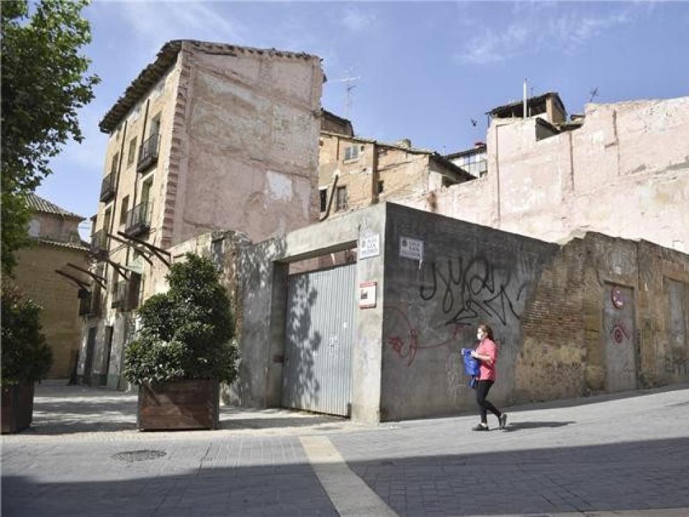 La Plataforma para la Defensa del Patrimonio de Huesca lamenta la actuación municipal en la plaza de San Pedro