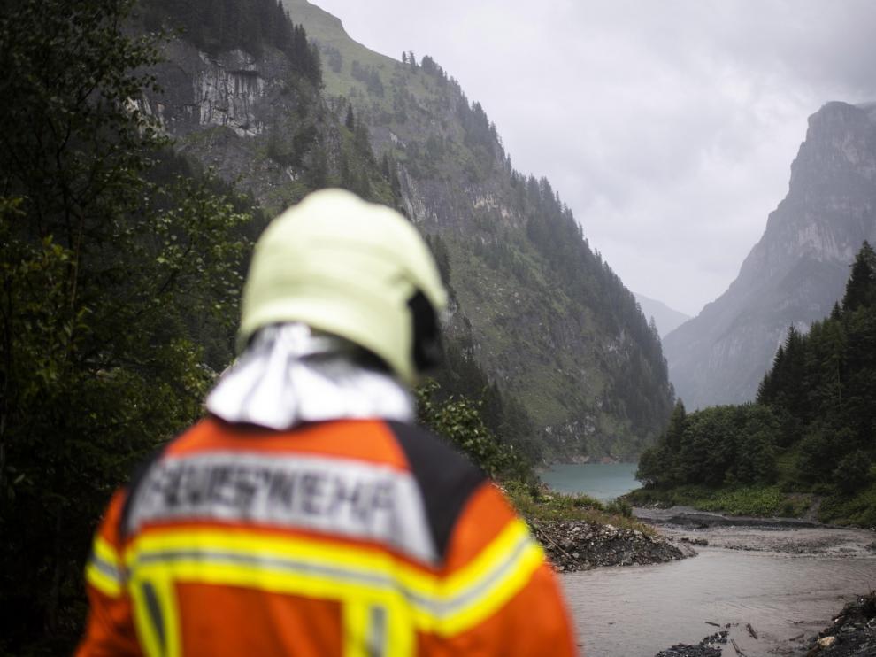 Interrumpida por la lluvia la búsqueda del barranquista español desaparecido en Suiza