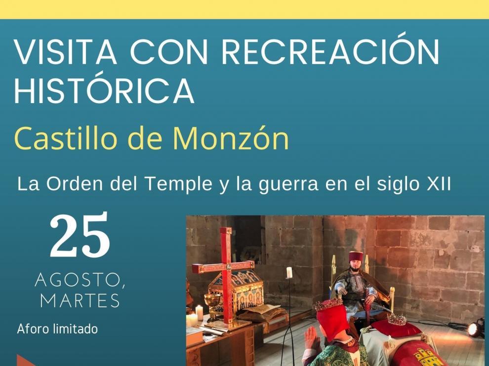 Monzón invita a conocer su castillo de la mano de los caballeros templarios